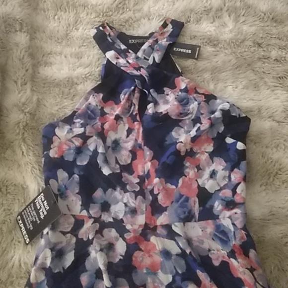 Express Dresses & Skirts - Express floral halter dress sz 2 NWT